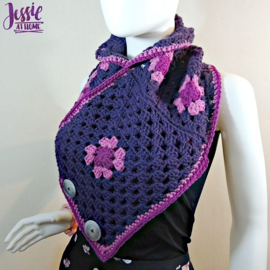 Modern Granny Square Cowl free crochet pattern by Jessie At Home - 3
