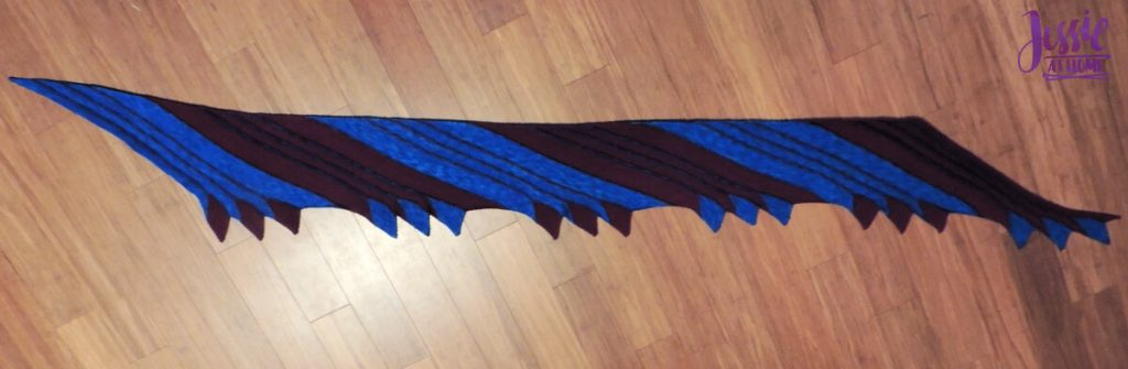 Nightbird - free diagonal knit scarf pattern by Jessie At Home - 7