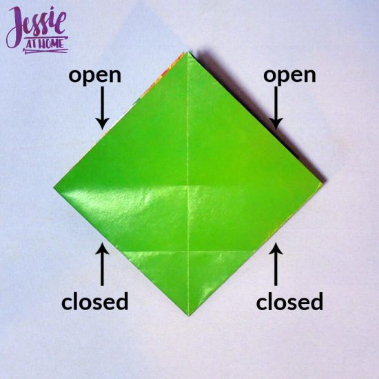 Origami Basket with Handle - paper folding tutorial by Jessie At Home - 1