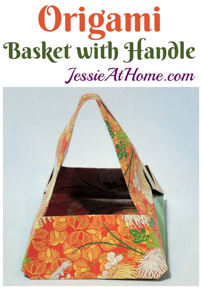 Origami Basket With Handle https://jessieathome.com/origami-basket-with-handle/