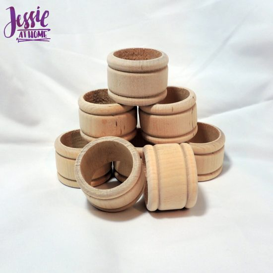 Wood Craft Supplies from Woodpecker Crafts review by Jessie At Home - napkin rings