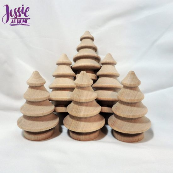 Wood Craft Supplies from Woodpecker Crafts review by Jessie At Home - trees