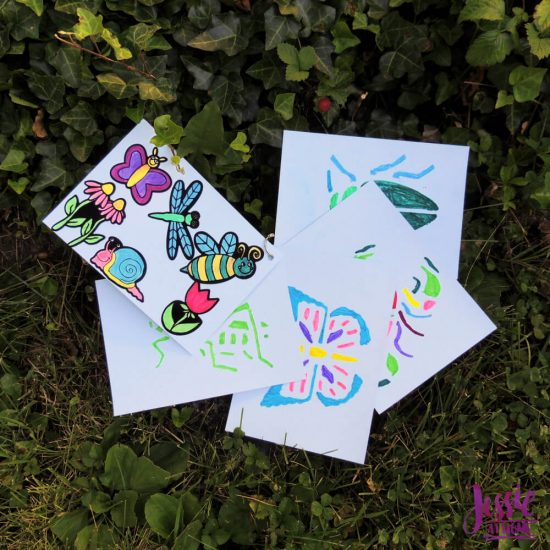 Bug Art For Kids - Buzzin' Bugs - July Orange Art Box Projects from Jessie At Home - bug book