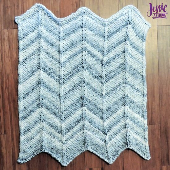 Chunky Chevron Fast Knit Baby Blanket - knit pattern by Jessie At Home - 4