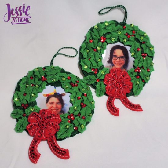 Handmade Holidays - Bucilla felt kits review from Jessie At Home - photo frames