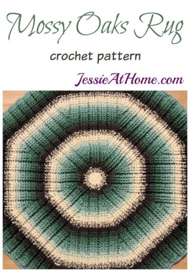 Mossy Oaks Rug crochet pattern by Jessie At Home