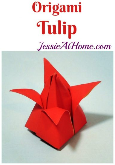 Origami Tulip tutorial from Jessie At Home