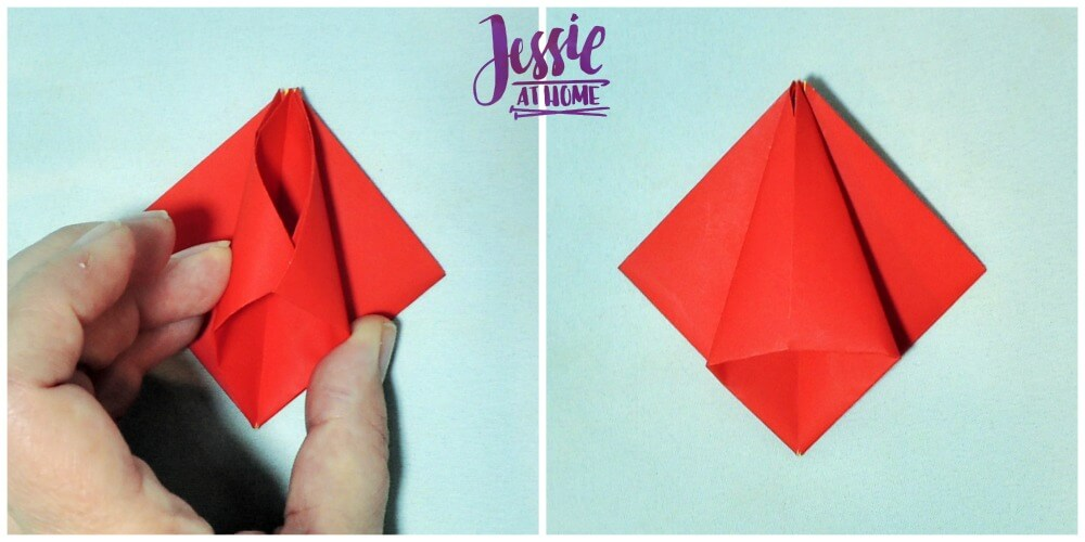 Origami Tulip tutorial from Jessie At Home 5