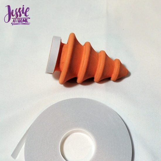 Winter Tree Craft - applying the tape - crafty tutorial by Jessie At Home