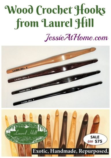 Wood Crochet Hooks from Laurel Hill review giveaway and sale from Jessie At Home