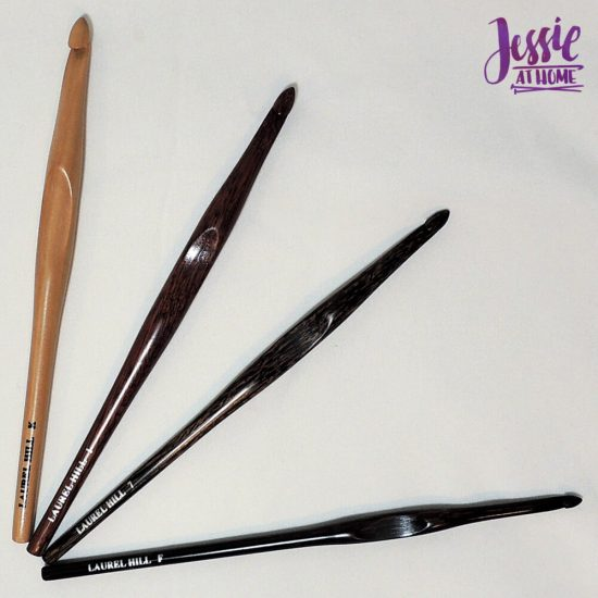 Wood Crochet Hooks from Laurel Hill review giveaway and sale from Jessie At Home - my hooks