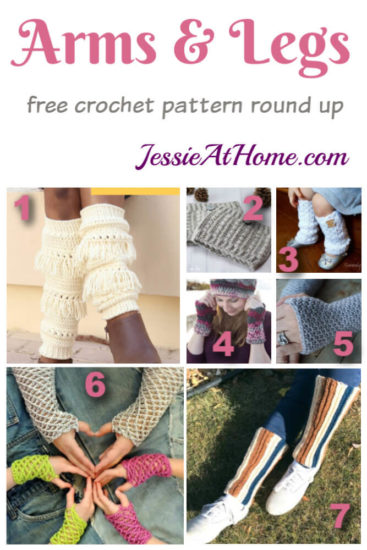 Arms & Legs free crochet pattern round up from Jessie At Home