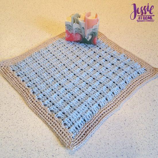 Broken Rib Crochet Washcloth - crochet patter by Jessie At Home - 2