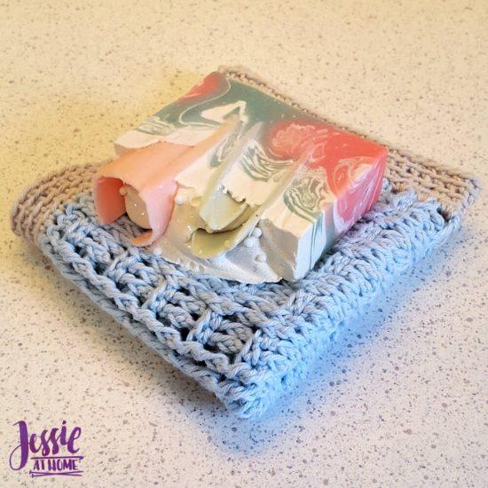 Broken Rib Crochet Washcloth - crochet patter by Jessie At Home - 3