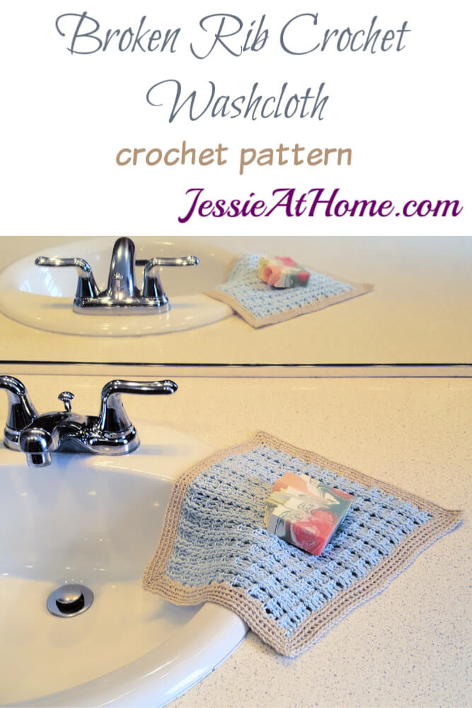 Broken Rib Crochet Washcloth - crochet patter by Jessie At Home