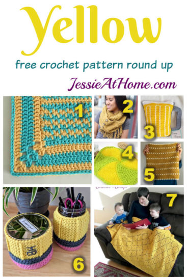 Crochet in Yellow - free crochet pattern round up from Jessie At Home