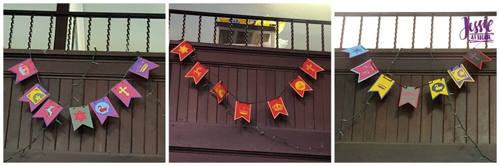 DIY Medieval Banner Cricut tutorial from Jessie At Home - Banners all done