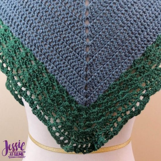 Easy Crochet Lace Bordered Shawl - Seas of Change - crochet pattern by Jessie At Home - 3