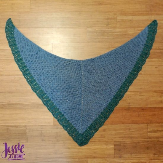 Easy Crochet Lace Bordered Shawl - Seas of Change - crochet pattern by Jessie At Home - 5