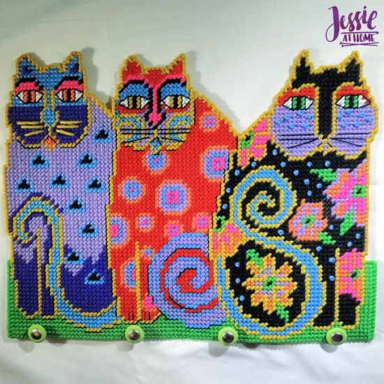 Needlepoint Fun with Design Works - Jessie At Home - Cat Trio