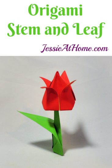 Origami Flower Stem and Leaf Tutorial from Jessie At Home