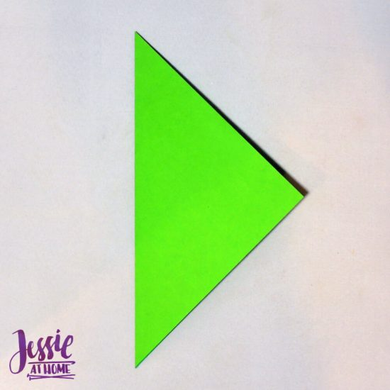 Origami Flower Stem and Leaf Tutorial from Jessie At Home - Step 1