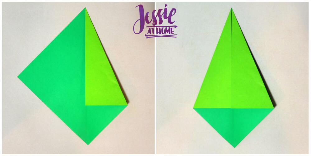 Origami Flower Stem and Leaf Tutorial from Jessie At Home - Step 2