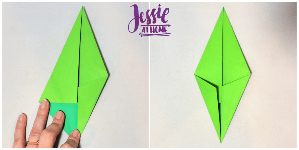 Origami Flower Stem and Leaf Tutorial from Jessie At Home - Step 3