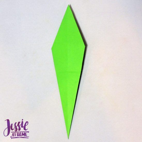 Origami Flower Stem and Leaf Tutorial from Jessie At Home - Step 5