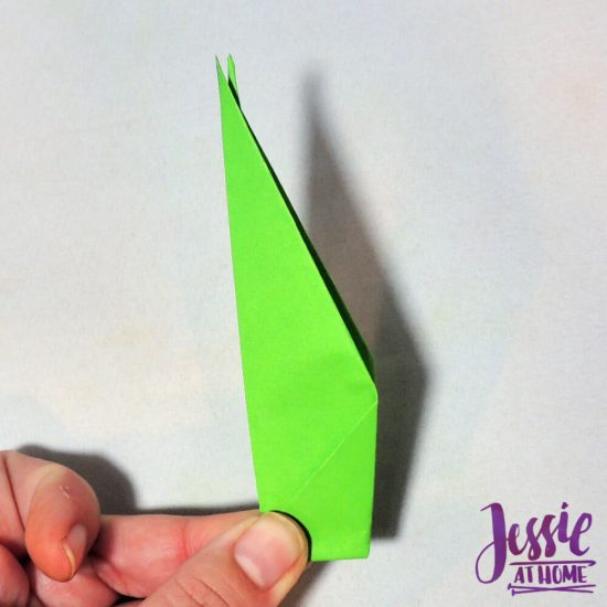 Origami Flower Stem and Leaf Tutorial from Jessie At Home - Step 7