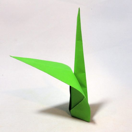 Origami Flower Stem and Leaf Tutorial from Jessie At Home - Step 8