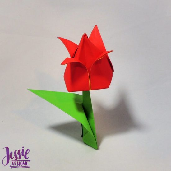 Origami Flower Stem and Leaf Tutorial from Jessie At Home - Step 9