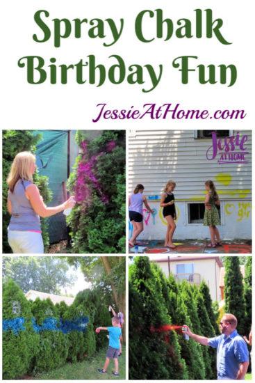 Spray Chalk and Art Birthday Fun
