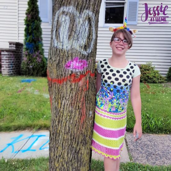 Spray Chalk and Art Birthday Fun - Tree