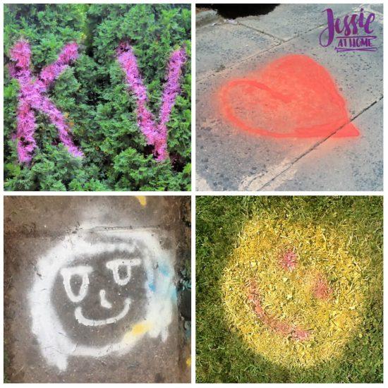 Spray Chalk and Art Birthday Fun - tagged