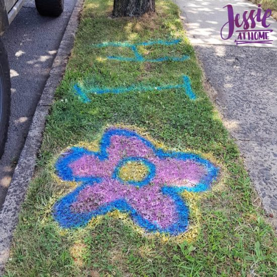 Spray Chalk and Art Birthday Fun - welcome