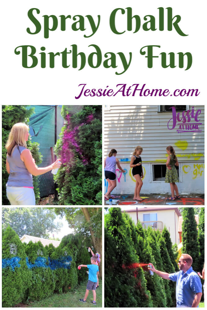 Spray Chalk and Art Birthday Fun