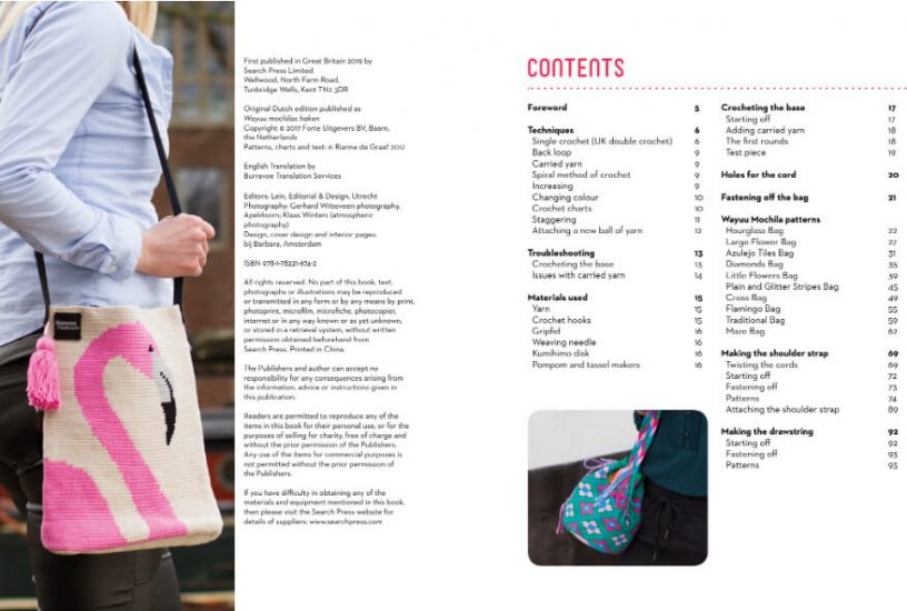 Tapestry Crochet Bags - Colourful Wayuu Bags to Crochet review from Jessie At Home - contents