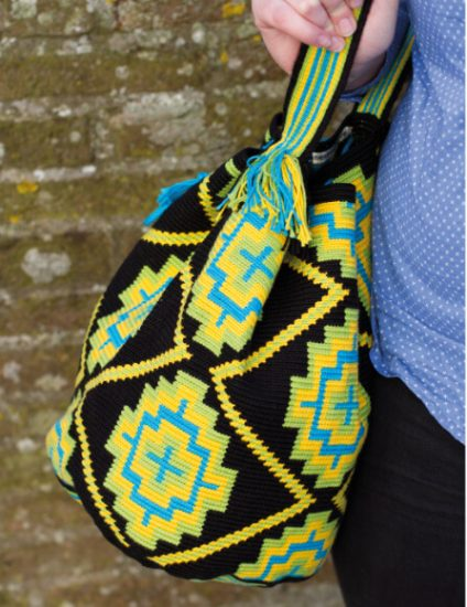 Tapestry Crochet Bags - Colourful Wayuu Bags to Crochet review from Jessie At Home - so bright