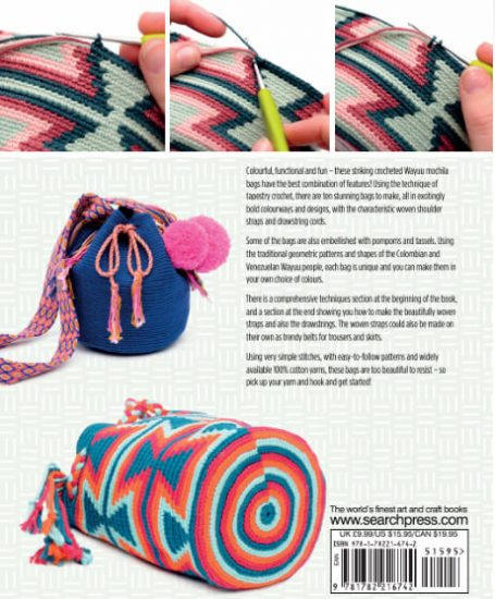 Tapestry Crochet Bags - Colourful Wayuu Bags to Crochet review from Jessie At Home - so many details