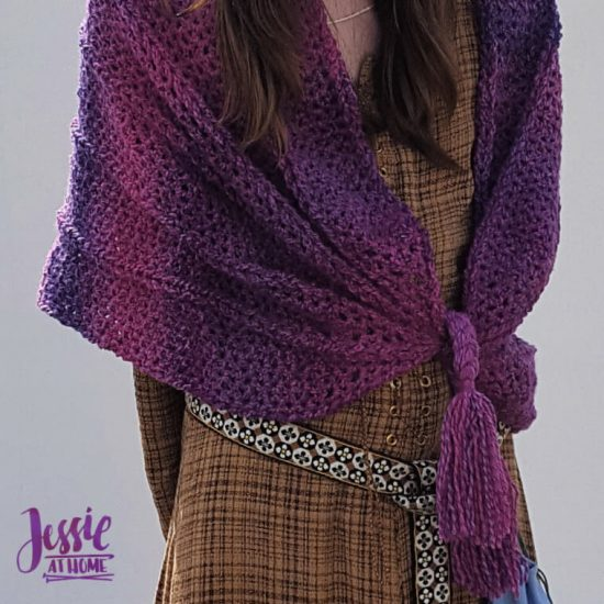 Twisted Strands Wrap crochet pattern by Jessie At Home - 3
