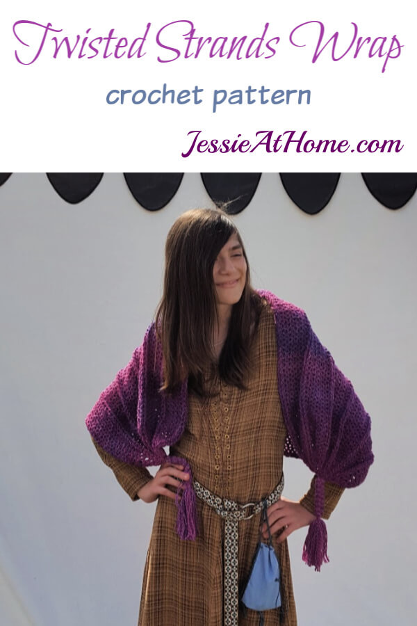 Twisted Strands Wrap crochet pattern by Jessie At Home