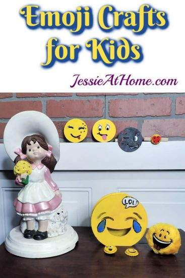 DIY Emoji Crafts For Kids - September Orange Art Box projects from Jessie At Home