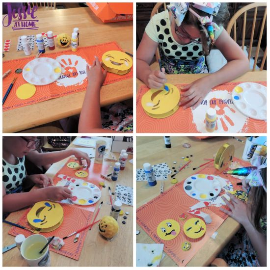 DIY Emoji Crafts For Kids - September Orange Art Box projects from Jessie At Home - creating