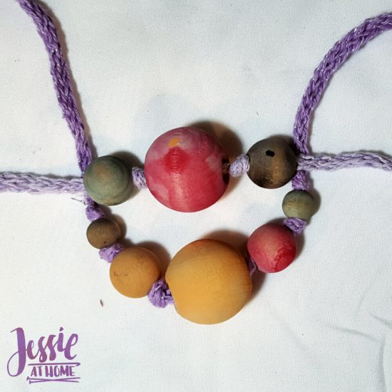 DIY Wooden Bead Necklace craft tutorial by Jessie At Home - 1