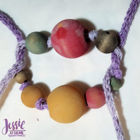 DIY Wooden Bead Necklace craft tutorial by Jessie At Home - 2