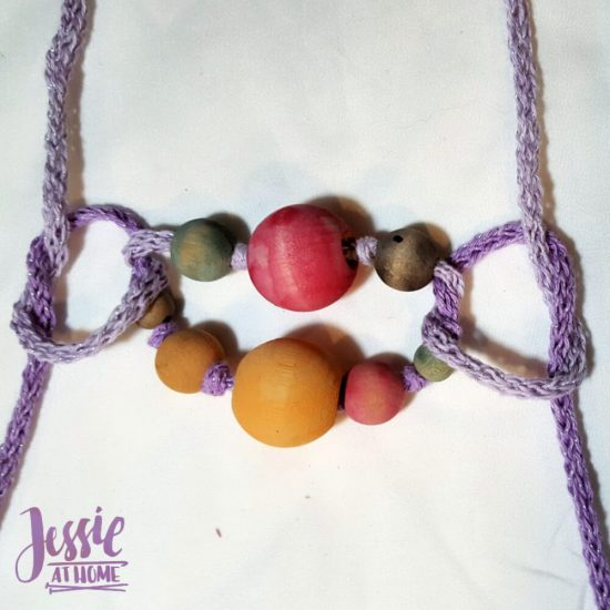 DIY Wooden Bead Necklace craft tutorial by Jessie At Home - 3
