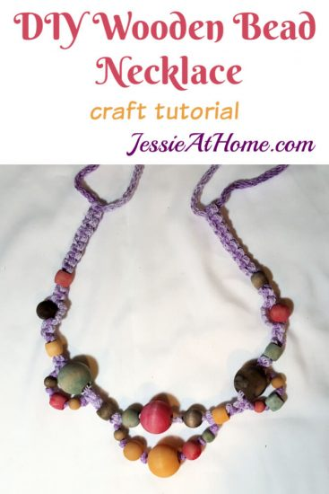 DIY Wooden Bead Necklace craft tutorial by Jessie At Home