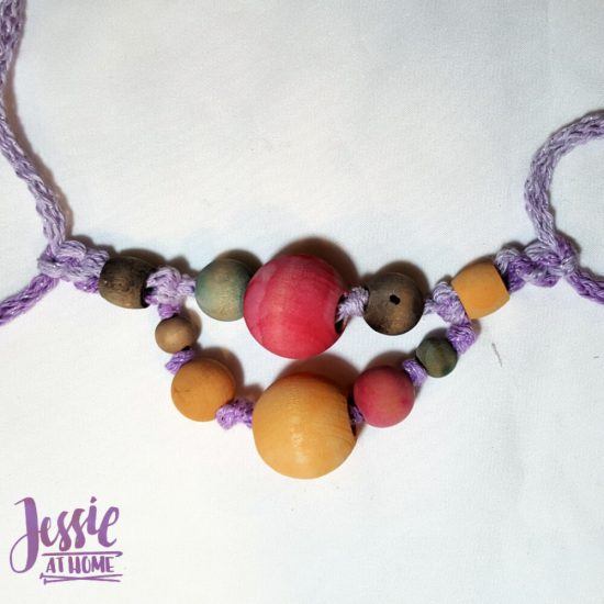 DIY Wooden Bead Necklace craft tutorial by Jessie At Home - 4