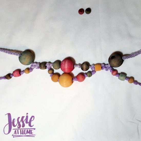 DIY Wooden Bead Necklace craft tutorial by Jessie At Home - 5